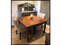Beautiful Antique Late 19th Century Oak Extending Pull Out Dining Table