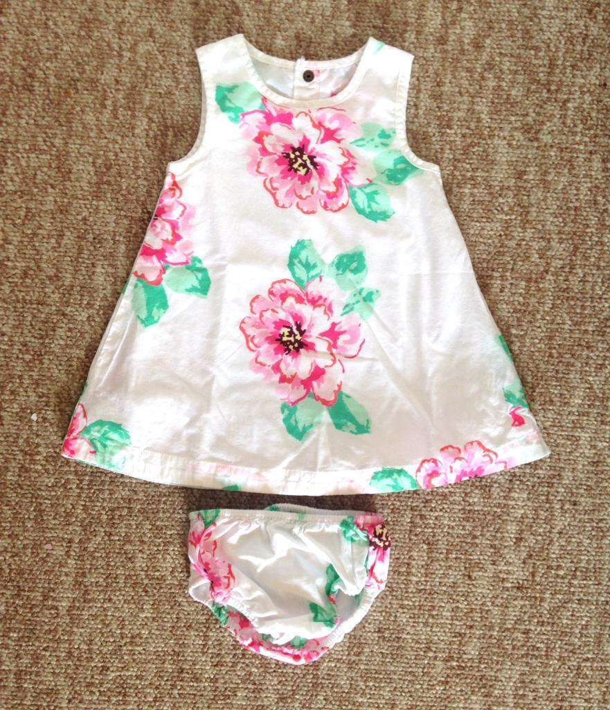 Baby Girls JOULES Dress and Matching Knickers Age 3-6months