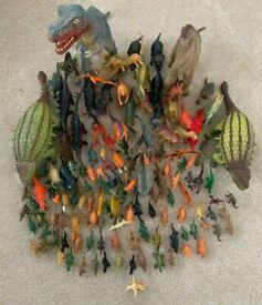 Dinosaur toys, huge bundle of 145 items, good condition.