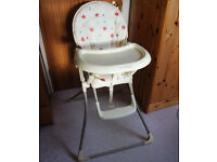 MAMAS and PAPAS HIGH CHAIR Folding High Chair Colour Ivory