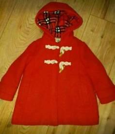 Girls next 1.5-2 years duffle coat