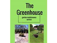 The greenhouse garden maintenance service