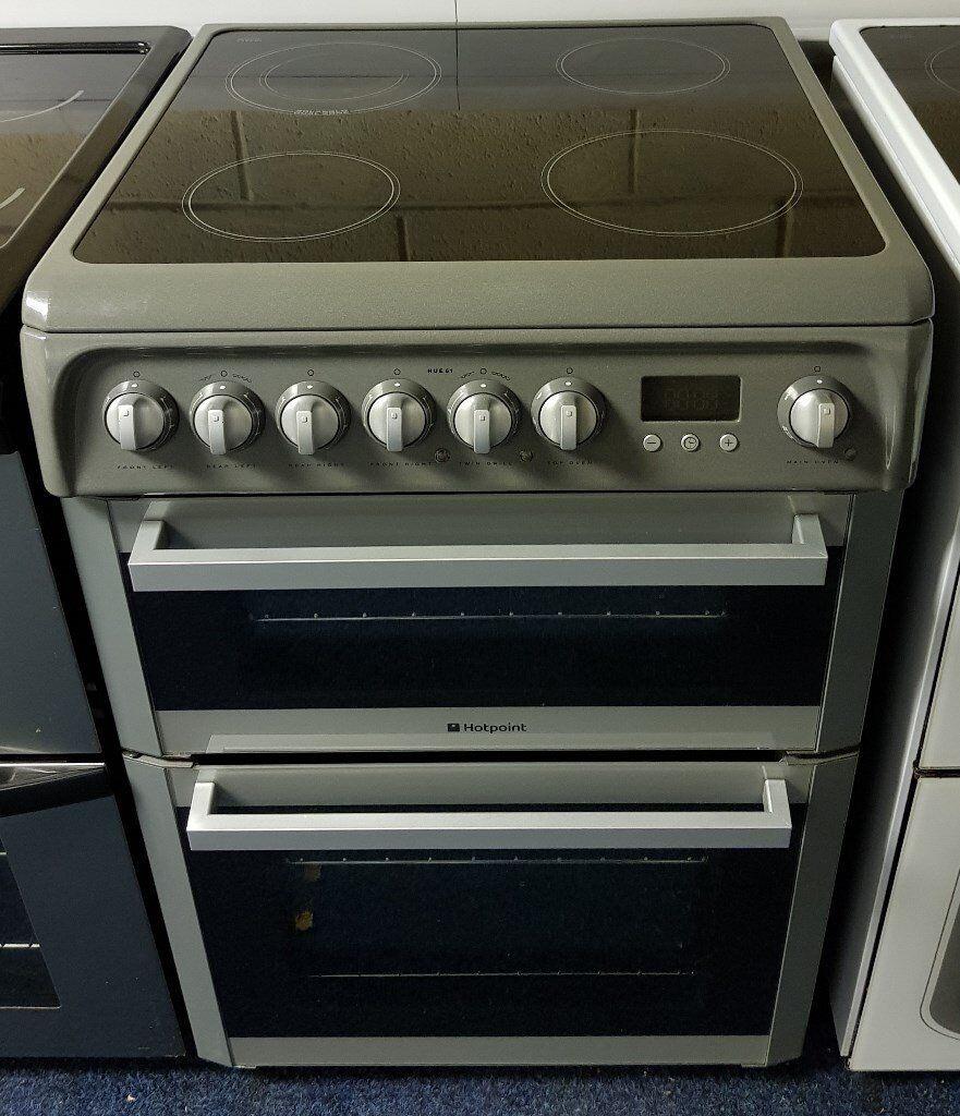 Graphite Hotpoint 60cm Cooker - 12 Months Warranty - £190
