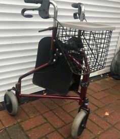 3-WHEEL WALKER, A RAISED TOILET SEAT AND FRAMEWORK BARGAIN ONLY £20 CAN DELIVER