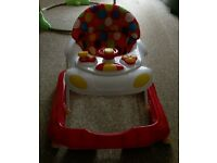 Red Kite Baby Walker Go Round Vroom Baby Zoo Walker with wheels boxed ex con