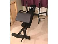 DTX fitness All-In-One Dumbell/Barbell Weight Bench With Butterfly & Preacher Curl