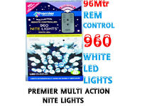 NEW 960 White LED Nite Lights With Rem Control And Light Sensitive Sensor....... a massive 96Mtr