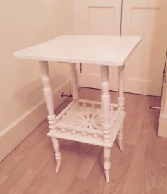 Ornate White wooden occasional table