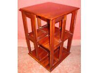 Revolving Storage Unit (Mahogany) for Books, CDs etc /Side Table