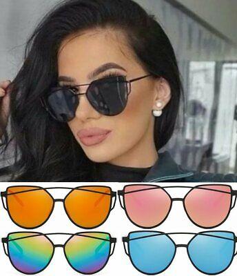 ACE Cateye Damen Sonnenbrille Retro Verspiegelt Vintage Blogger Trend Plastik