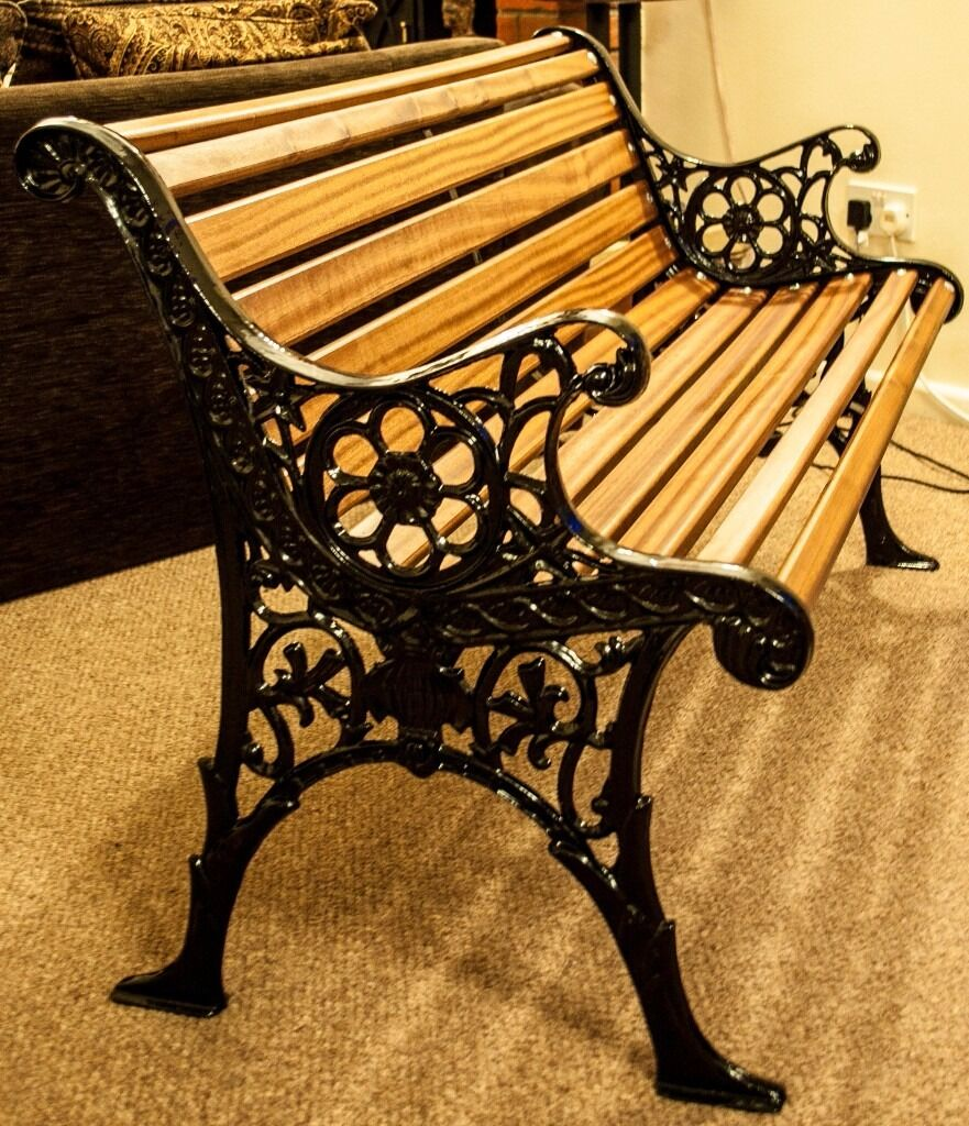 Beautiful Cast Iron Garden Bench For Sale