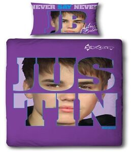 Justin-Bieber-Autograph-Official-Single-Duvet-Cover-Bed-Set-Never-Say-Never