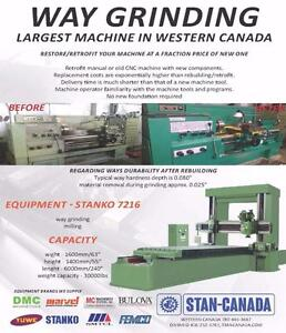 Machine Tools Way Grinding, Restoring/Retrofitting