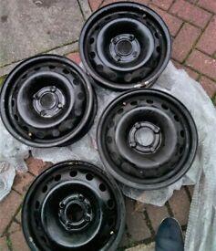 "Peugeot 206, set of 4, 14"" steel wheels"