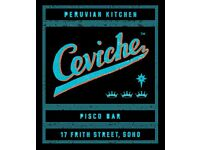 Runner, immediate start, Ceviche Soho up to £8.50 per hour