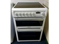 Hotpoint White 60cm Ceramic Cooker - 12 Months Warranty - £190