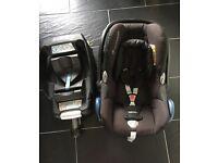 Maxi cosi CabrioFix car seat and easyfix base