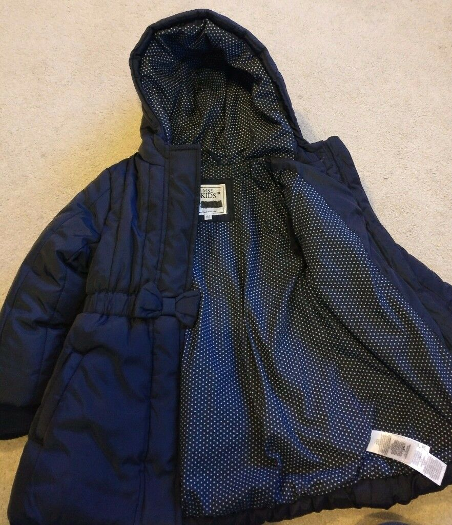 Girls m&s winter coat age 2-3