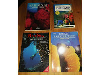 A selection of Diving and Snorkeling Guides plus 3 other dive books