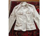 Cool Women's Military Army Cotton Jacket, Medium UK 12, Many Pockets, VGC