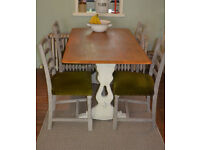 Farmhouse Shabby Chic Refectory Table Ecrol Table - We Can Deliver