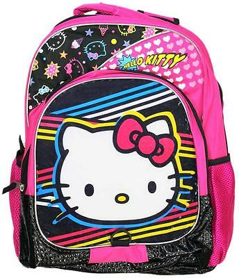 Retro 80s Style Hello Kitty Kids Backpack Full Size Childs Boys Grils Back Pack](80s Boys Fashion)
