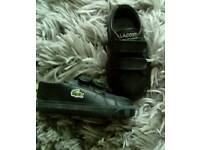 Lacoste size 3 boys trainers