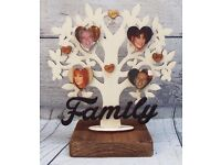 personalised photo free standing family tree ornament gift