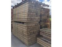 🍁 Tanalised 190 x 90 x 2.4M Wooden Railway Sleepers