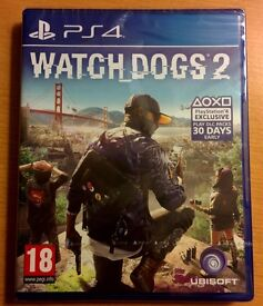 New! Sealed! Watch Dogs 2 for Play Station 4 WD2 PS4 Watchdogs