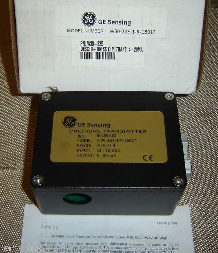 GENERAL ELECTRIC W30-32E-1-R-15017 PRESSURE TRANSMITTER
