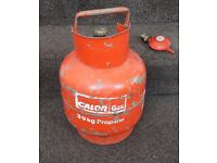 Calor gas 3.9 kg empty propane cylinder and adaptor