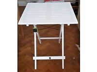 White Wood Folding Garden Table