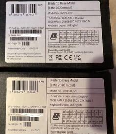 RazerBlade 15 (Late 2020) Intel i7-10750H(SEALED. With Warranty)