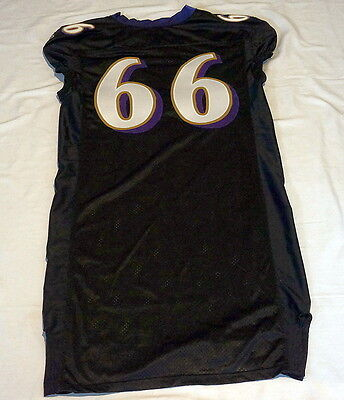 #66 No Name Authentic Ravens Team Issued Jersey