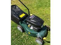 "Petrol push mower 16"" cut like new solid plastic deck 98.5cc engine lawnmower"