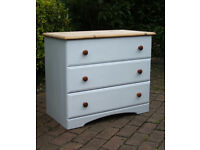 Large - Shabby Chic - Pine Chest of Drawers