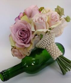 Artificial affordable Scented wedding Flowers.Bouquets,bridesmaids, buttonholes, gift boxes bridal