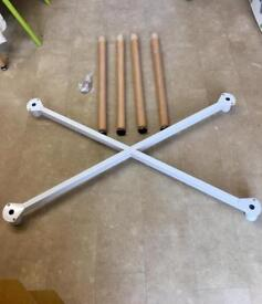 Table top frame and matching adjustable legs