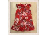 Summer dress with flowers girl 3years