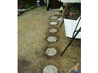 Stepping stones, Hand made