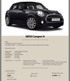Mini Cooper S - NON CREDIT CHECK LEASE