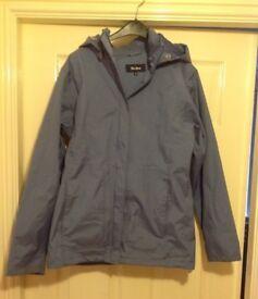 Ladies Peter Storm Wind/Waterproof Breathable Jacket. Blue. Size 10