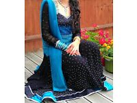 Indian Pakistani Designer Wedding Party Dress/ Frock style