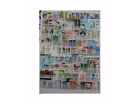 300 different Asian stamps on stock sheets. price reduced for quick sale!