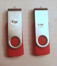 Two 64M Memory Sticks