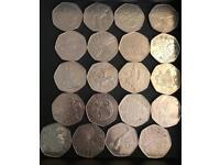 Job lot 50p coins