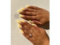 Nails, Acrylics, Polygel, Gelish, Gel polish, Shellac, OPI, Russian Manicure