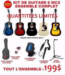 SUPER PRIX SPÉCIAL RENTRÉE Guitares / Kit de guitare 6 mcx / ukulele et + (regardez nos images)