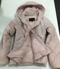 Pink short-length down coat